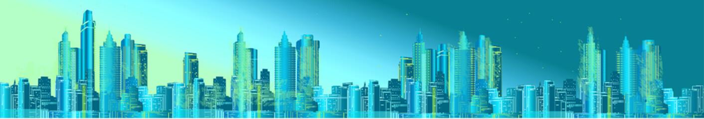 green city long panorama
