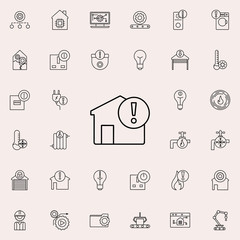 exclamation mark icon. Automation icons universal set for web and mobile