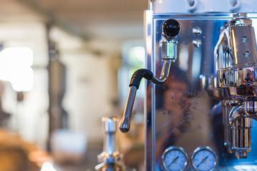 details of a italian coffee machine