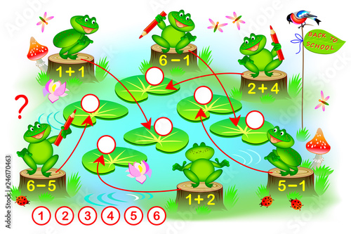 Educational Page With Exercises For Children On Addition And