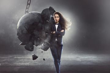 Standhafte Geschäftsfrau
