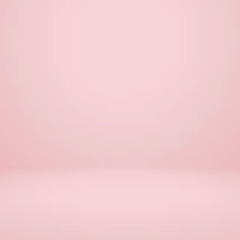 Wall Mural - Empty pink studio room, used as background for display your products