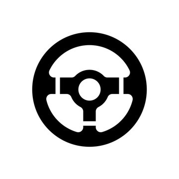 Steering car icon