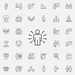 employee selection icon. Business Organisation icons universal set for web and mobile