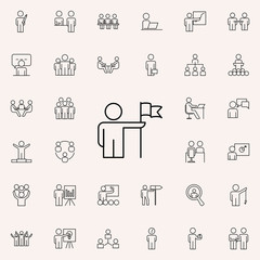 to achieve success in work icon. Business Organisation icons universal set for web and mobile