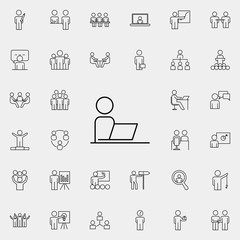 employee in the workplace icon. Business Organisation icons universal set for web and mobile