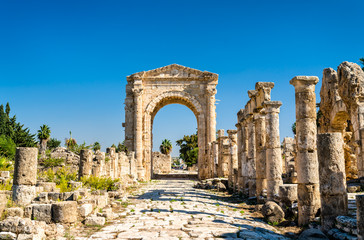 Arch of Hadrian at the Al-Bass Tyre necropolis in Lebanon