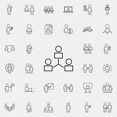 communication of business people icon. Business Organisation icons universal set for web and mobile