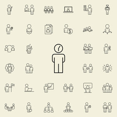 time management icon. Business Organisation icons universal set for web and mobile