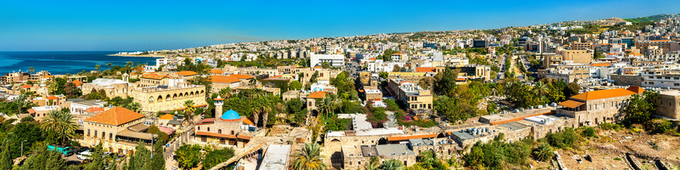 Aerial view of Byblos town in Lebanon Wall mural