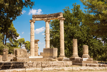 The ruins of ancient greek city of Olympia