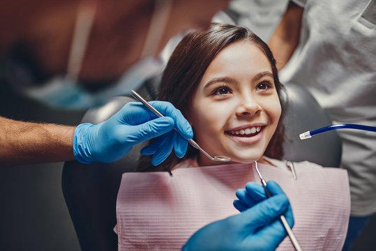 Children in dental clinic