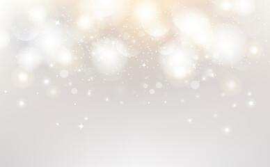 White abstract, Bokeh decoration background vector illustration seasonal holiday celebration