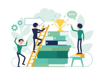 Education ladder leading to future life success