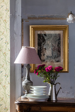 déco murale avec papier peint et tissus de charme