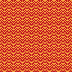 Lunar New Year Seamless Pattern - Red and gold pattern design for Lunar or Chinese New Year