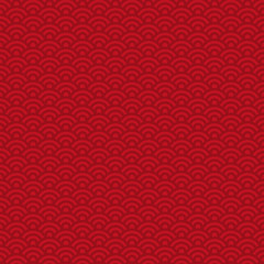 Lunar New Year Seamless Pattern - Red pattern design for Lunar or Chinese New Year
