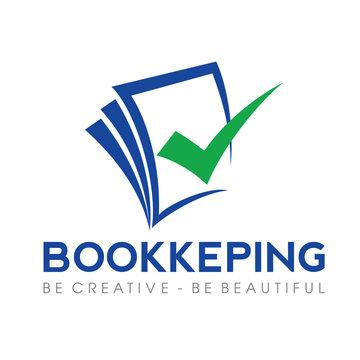 Tax and Accounting, Bookeping Logo Vector Inspiration