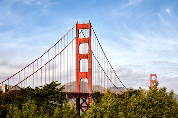 Golden Gate Bridge San Francisco Tower Truss