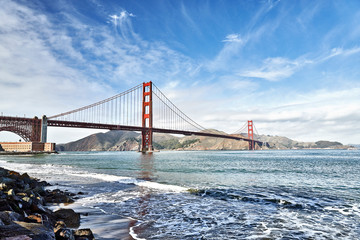 Golden Gate Bridge San Francisco Ocean Shoreline