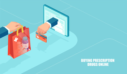 Vector of online pharmacy, e-commerce concept