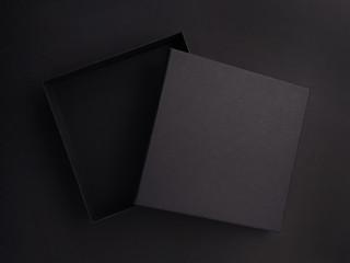 dark open gift box