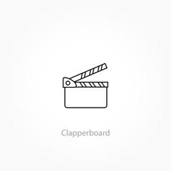movie clapper line icon, cinema vector icon, video icon