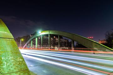 Nachtaufnahme der Schlossbrücke in Berlin Charlottenburg