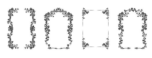 Elegant frame of roses
