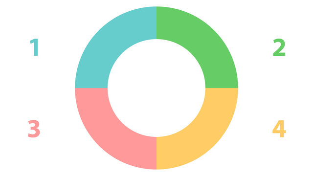 Pie graph vector design. Empty infographic vector template