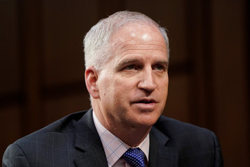 "Robert Cardillo, director of the National Geospatial-Intelligence Agency, testifies to the Senate Intelligence Committee hearing about ""worldwide threats"" on Capitol Hill in Washington"
