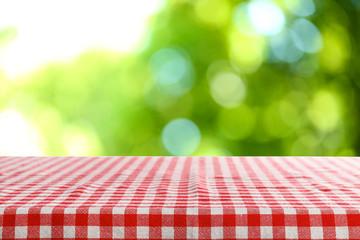 Foto auf AluDibond Picknick Beautiful green natural background