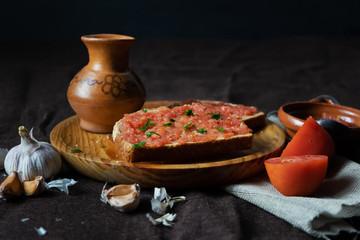 "Spanish tomato toast ""Pan tumaca"""