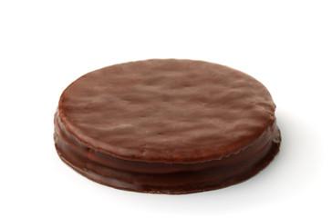 Round chocolate cookie