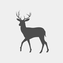 Deer vector silhouette. Wild animal silhouette