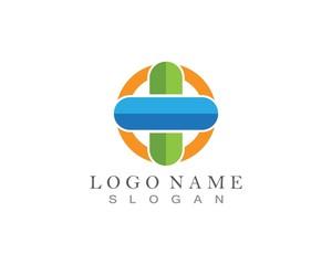 Pharmacy, Medicine, Healthcare Cross Abstract Vector Logo Design