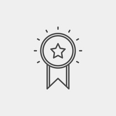 Award, medal, winner, victory flat vector icon