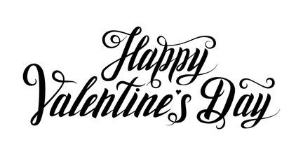 Happy Valentine's day - hand drawn inscription. Lettering. Greeting card. Poster for Valentine's Day