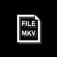 MKV File icon flat