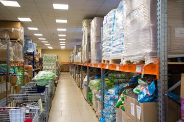 RUSSIA, URAL - JANUARY 2019, warehouse store.