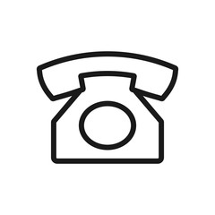 old telephone. minimal thin line web icon. simple vector illustration outline. concept for infographic, website or app