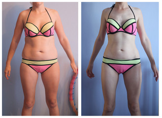 woman s body before and after weight loss Wall mural