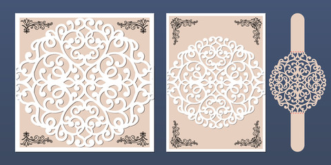 Laser Cut Wedding Invitation Photos Royalty Free Images