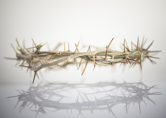 crown of thorns easter background