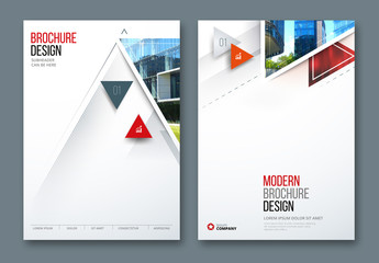 Business Report Cover Layouts with Triangles