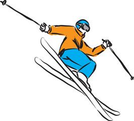 ski jumping 4 illustration