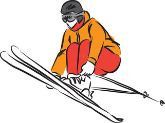 ski jumping 3 illustration
