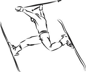 ski jump illustration