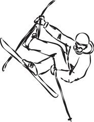 ski jump illustration 2