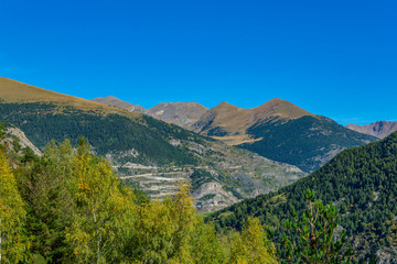 Pyrenees mountains viewed from Andorra